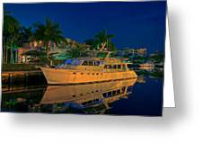 Night Time In Fort Lauderdale Greeting Card