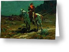 Night Time In Wyoming Greeting Card