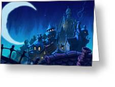 Night Town Greeting Card