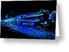 Night Train To Romance Greeting Card by Aaron Berg