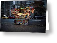 Night Vendor Greeting Card