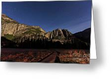 Night View Of The Upper Yosemite Fall Greeting Card