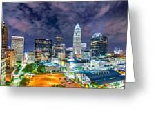 Night View Scenes Around Charlotte North Carolina Greeting Card