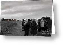 Night Vision Ghost Story In Bradgate Park. Greeting Card