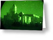 Night Vision Mosque Kandahar Greeting Card