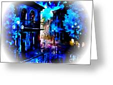 Night Walking In New Orleans Greeting Card
