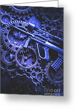 Night Watch Gears Greeting Card