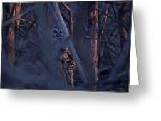 Night Watchman Greeting Card