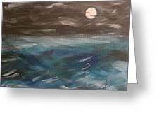 Night Waves Greeting Card