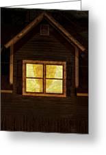 Night Window Greeting Card