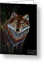 Night Wolf Greeting Card