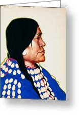 Night Woman, A Blackfeet Of Montana Greeting Card