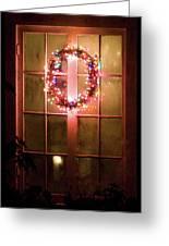 Night Wreath Greeting Card