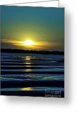 Nightfall At The Shore Greeting Card