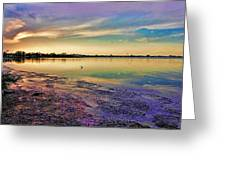 Nightfall On The Bay Greeting Card