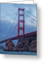 Nightfall Over Golden Gate Greeting Card