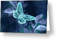 Nightglow Butterfly Greeting Card