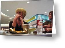 Nighthawks At The Foodcourt Greeting Card