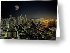 Nightlights Seattle Washington  Greeting Card