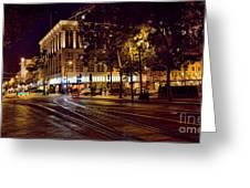 Nights, Lights Downtown Sj Greeting Card
