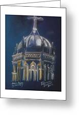 Nights Of Lights Presbyterian Memorial Church St Augustine Florida  Greeting Card