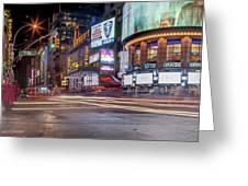 Nights On Broadway Greeting Card