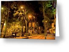 Nights San Jose Downtown  Greeting Card