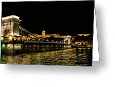 Nightscape On The Danube Greeting Card