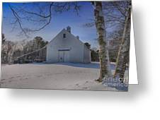 Nighttime At The Mallett Barn Greeting Card