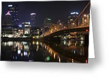 Nighttime In The City Greeting Card