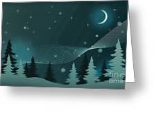 Nighttime Greeting Card