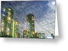 Tokyo River Greeting Card