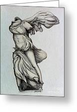 Nike Of Samothrace Greeting Card