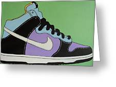 Nike Shoe Greeting Card by Grant  Swinney