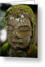 Nikko Stone Carved Face 2 Greeting Card