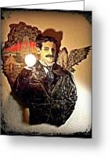 Nikola Tesla At Wardenclyffe Greeting Card