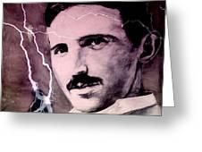 Nikola Tesla - Quote Greeting Card