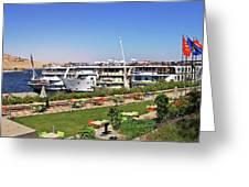 Nile Cruise Ships Aswan Greeting Card