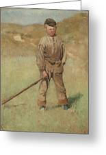 Nils Kreuger, 1858-1930, Young Boy, Scene From Holland. Executed In July-august 1883 Greeting Card