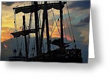 Nina Replica Masts Greeting Card