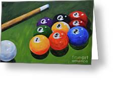 Nine Ball Greeting Card