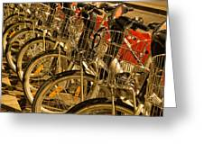 Bikes For Hire In Lyon Greeting Card