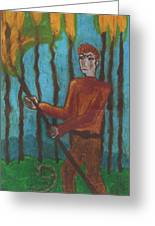 Nine Of Wands Illustrated Greeting Card