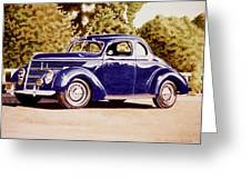 Nineteen Thirty Eight Ford Coupe Greeting Card