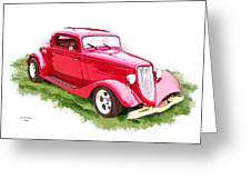 Nineteen Thirty-two Ford Coupe Greeting Card