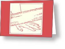 Ninth Station- Jesus Falls The Third Time Greeting Card