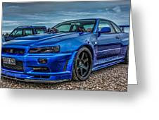Nissan Skyline Gtr R-34 Greeting Card