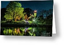 Nite At White River Light Greeting Card