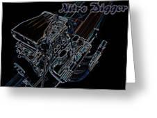 Nitro Digger 4 Greeting Card