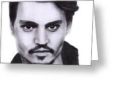 Johnny Depp Drawing By Sofia Furniel Greeting Card